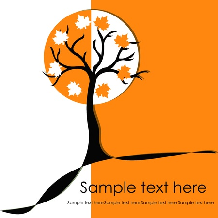 trees autumn on a white background Stock Vector - 15314949