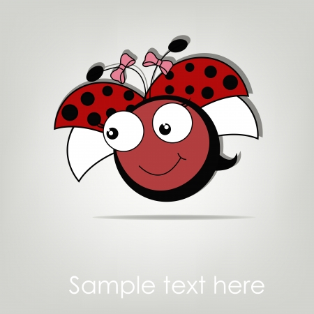 Pretty cute ladybug girl Vector