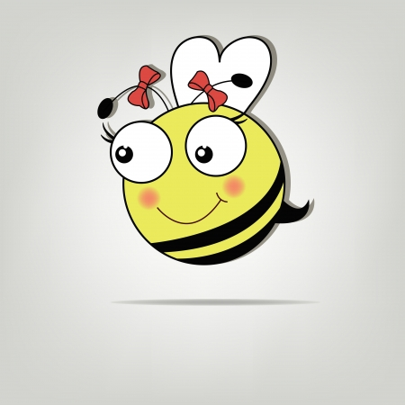 mosca caricatura: Bastante abeja linda chica
