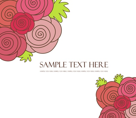 Floral background of roses Vector