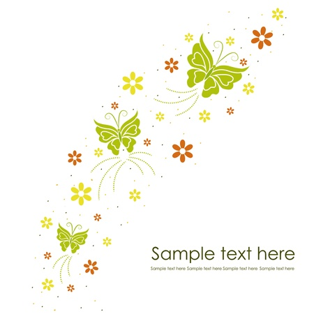 Beautiful floral background with butterflies Stock Vector - 15938364