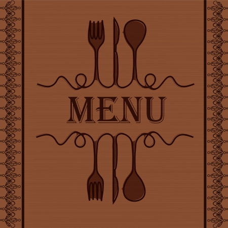 Sample menu for the restaurant Vector
