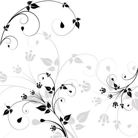 Beautiful pattern of scrolls and leaves Illustration