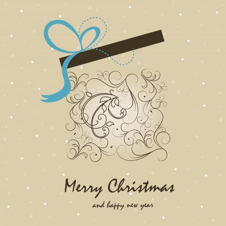 christmas wrapping paper: Christmas gift. Illustration
