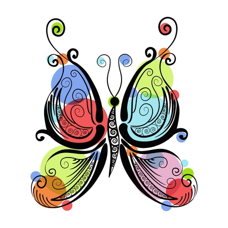 Beautiful butterfly patterns of Vector