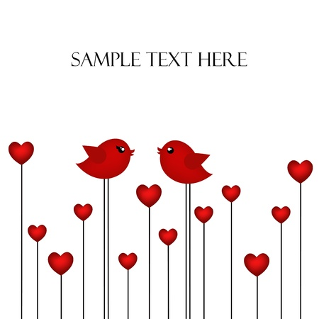 Loving pair of birds Stock Vector - 17403880