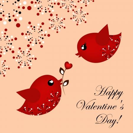 Loving pair of birds Stock Vector - 17403881