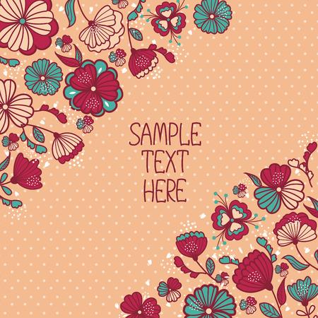 daisy vector: Beautiful floral pattern postcard