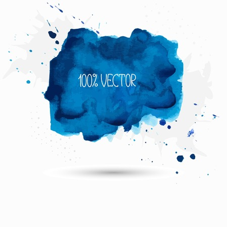 paint background: Blue background of watercolor paint Illustration