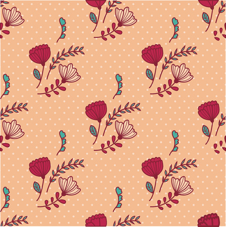 poppy pattern: Sample floral background