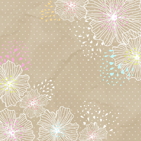 mottled background: Sample cards with white flowers on a mottled background