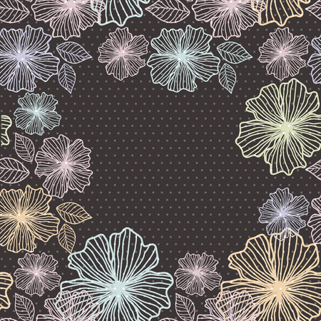 mottled background: Seamless background of flowers on a dark mottled background