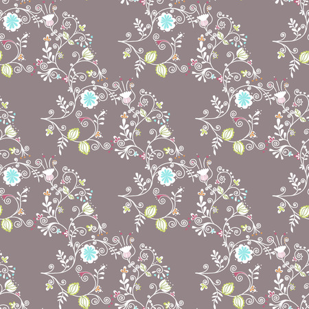 lowers: Beautiful seamless pattern with flowers Illustration