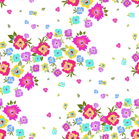flower pattern: Seamless pattern with poppies on a white background