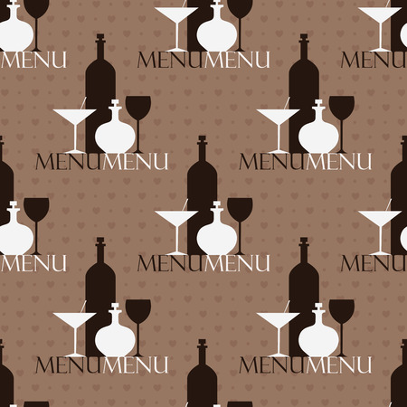 brown pattern: Seamless brown pattern with alcohol