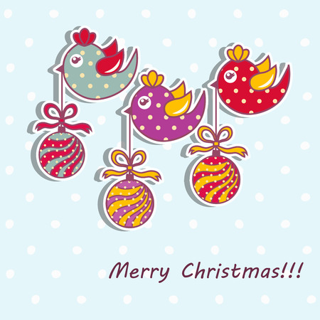 Sample Christmas cards with Christmas decorations