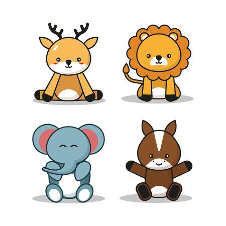 Cute Animals Mascoot Cartoon