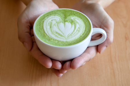 acidity: A cup of hot matcha latte for you