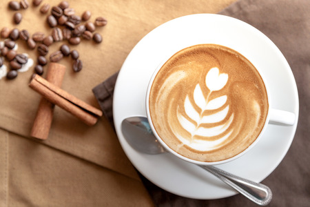 A cup of coffee latte