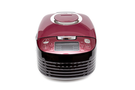 Computer rice cooker with smart cook program on White Background. 版權商用圖片
