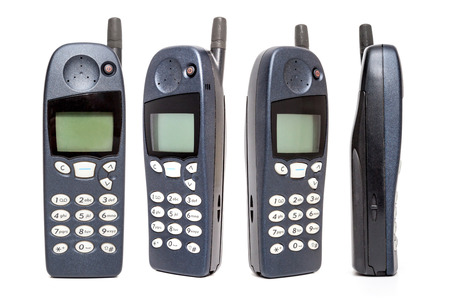 Old Mobile Phone on white background. Banque d'images - 119136140