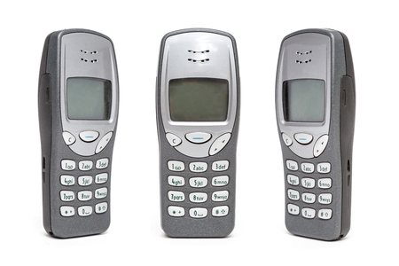 Old Mobile Phone on white background. Banque d'images - 119136143