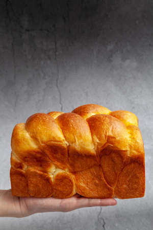 Brioche is a bread of French origin that is similar to a highly enriched pastry, and whose high egg and butter content gives it a rich and tender crumb