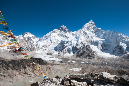View of Mt. Everest and Khumbu Glacier from the Kala Patthar summit, Nepal