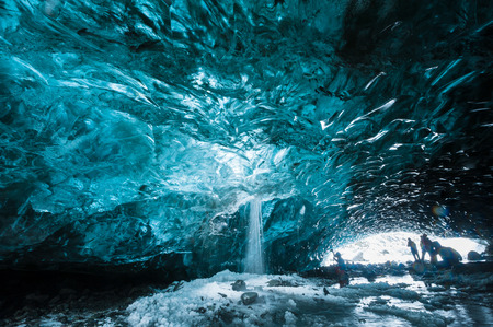 ice crystal: Ice Cave in Vatnajokull, South Iceland