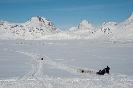 Dog sledding tour in Kulusuk, Greenland