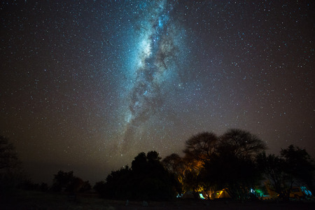 Milky way over camping site, Tanzania