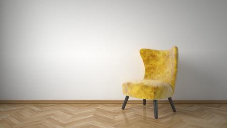 arredamento classico: poltrona giallo in sala