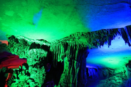 This is the karst cave in yangshuo, Guangxi, China