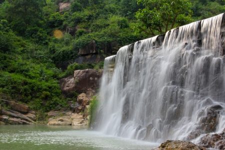 This is a waterfall in raoping photo