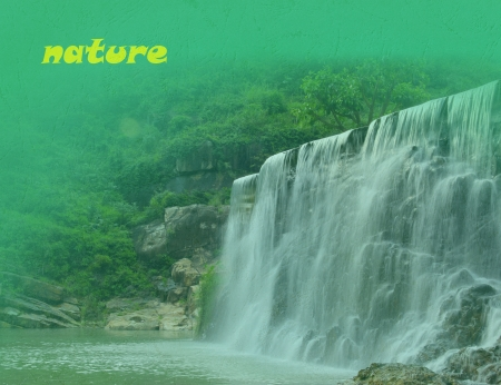 This is the background with waterfall Stock Photo