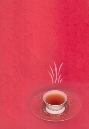 This is the background with tea