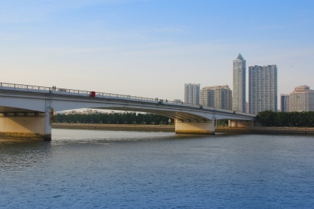 The landscape in the modern city which show the change of guangzhou
