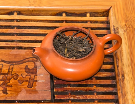 teakettle: dark-red enameled pottery ,which is important to chinese tea, also is the part of our traditional culture