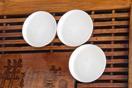 cups ,which is important to chinese tea, also is the part of our traditional culture Stock Photo - 18219468