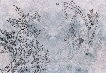 Classical Chinese painting--flower and bird photo