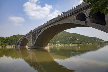 Stone arch bridge - Longmen Grottoes stone arch bridge that can pass a truck.