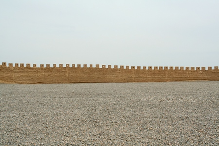 The wall of the most western part of the Great Wall