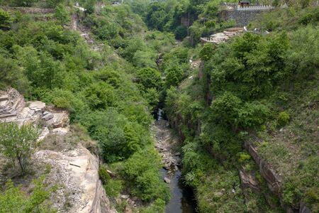 Taihangshan Tianjieshan Canyon Stream with water shortage in early summer