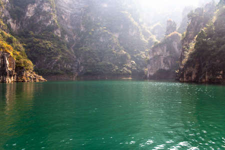 South Taihang Peak Forest Gorge Emerald Lake Autumn