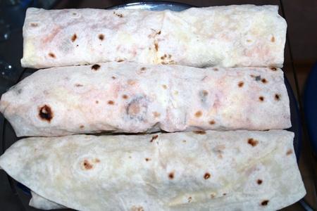 Shawarma in pita bread Stock Photo