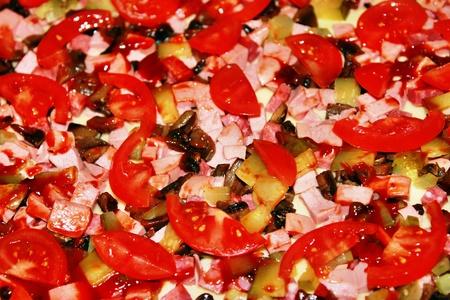 Raw pizza close-up