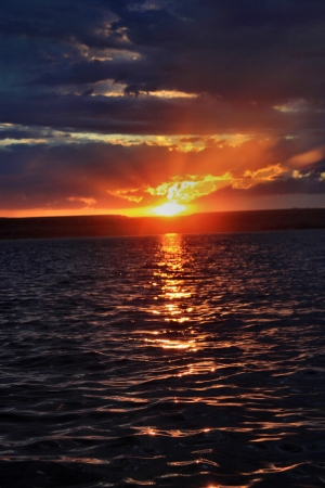 Sunset on the Volga photo