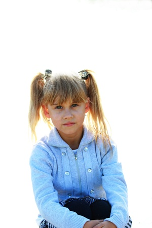 Portrait of a serious little girl Stock Photo - 16249435