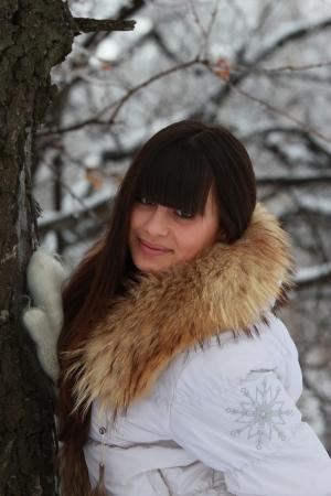 Portrait of a beautiful girl near the tree Stock Photo - 18632290