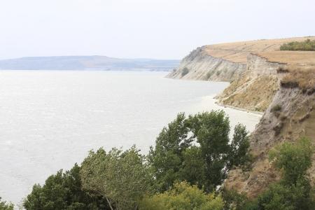 the volga river: Summer water landscape Stock Photo